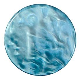 Polaris Cabochon Coin Flat 35 mm Parelmoer Teal Green (per 1)