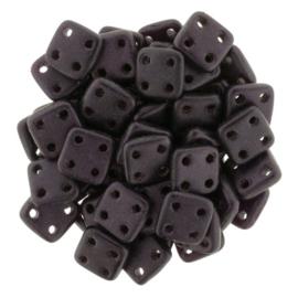 CzechMates QuadraTiles Metallic Suede - Dark Plum (per 5 gram)