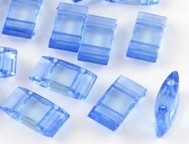 Verdeler Acryl Light Sapphire 17 x 9 x 5 mm (per 10)