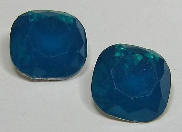 Resin Vierkant 12 mm Petrol Opal (per 2)