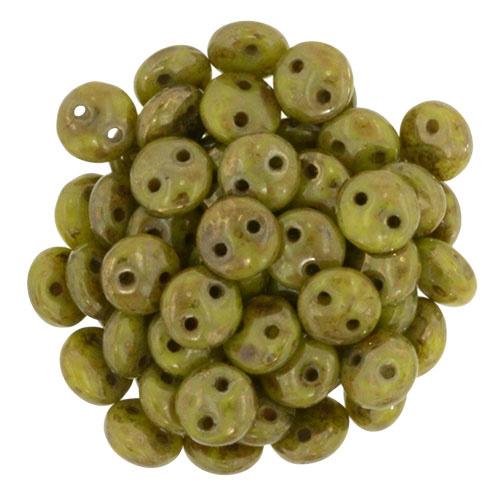CzechMates Lentils Chartreuse - Bronze Picasso (per 22)