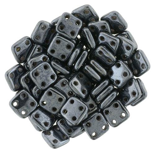 CzechMates QuadraTiles Hematite (per 5 gram)