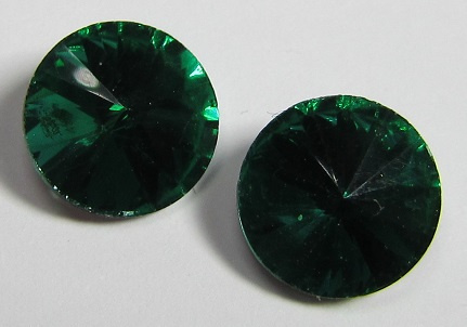 Glass Rivoli 10 mm Emerald (per 3)