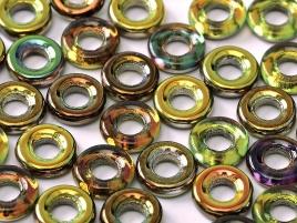 Glass Rings 9 mm Crystal Magic Green (per 8)