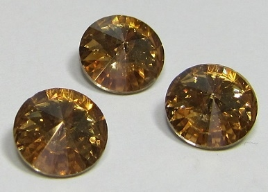 Glass Rivoli 8 mm SS39 Golden Shadow (per 3)