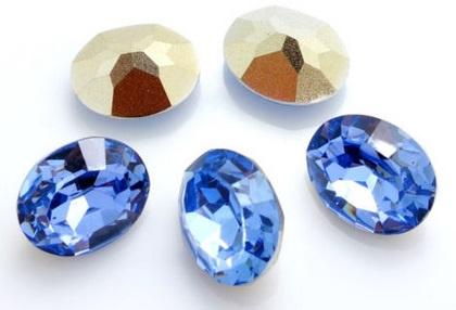 Resin Oval 10 x 14 mm Light Sapphire (per 3)