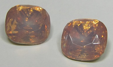 Resin Square 12 mm Pale Pink Opal (per 2)