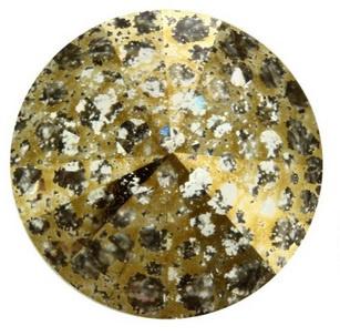 Swarovski Rivoli 14 mm Crystal Gold Patina (per stuk)