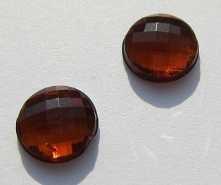 Cabochon Acryl Facet Munt 8 mm Oranjebruin G308-D (per 16)