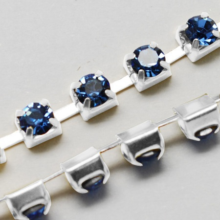 Cup Chain SS12 3 mm Light Sapphire (per meter)