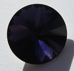 Glass Rivoli 18 mm Purple Velvet G501-D (per 1)