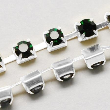 Cup Chain SS8 2,5 mm Dark Emerald (per meter)