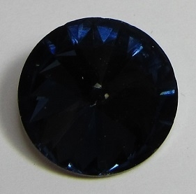 Glass Rivoli 18 mm Dark Indigo G537 (per 1)