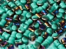 Diabolo Beads 4 x 6 mm Jade Sliperit (per 22)