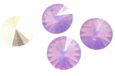 Resin Rivoli 12 mm Cyclamen Opal (per 3)