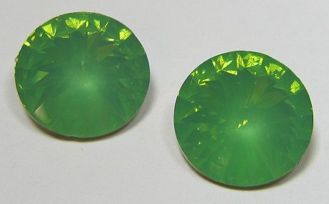 Resin Rivoli 16 mm Green Opal (per 2)