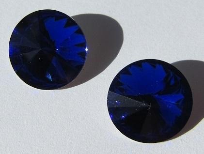 Glass Rivoli 16 mm Cobalt G502 (per 2)