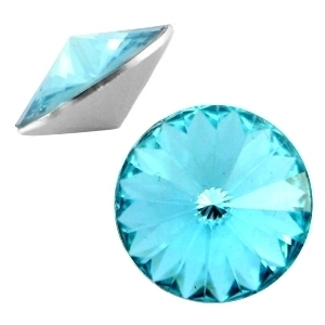 Resin Rivoli 12 mm Aqua Blue (per 3)