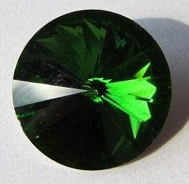 Glass Rivoli 18 mm Fern Green G498 (per 1)
