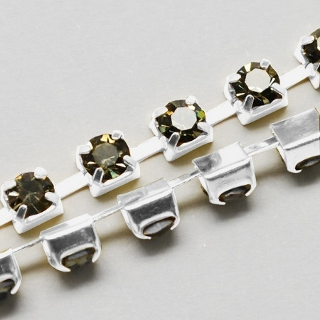 Cup Chain SS8 2,5 mm Dark Black Diamond (per meter)