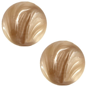 Polaris Cabochon Coin 20 mm Look Beige Brown (per 1)