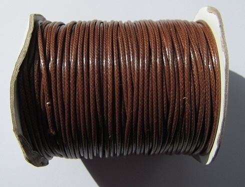 Waxed Cord 2 mm Brown W030 (1 meter)