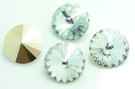 Resin Rivoli 14 mm Crystal (per 2)