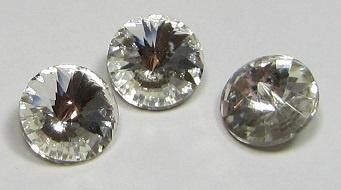 Glass Rivoli 8 mm SS39 Crystal (per 3)