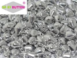Spiky Button 4,5 x 6,5 mm Crystal Labrador Full (per 25)