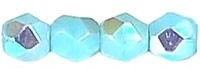 Fire Polished 3 mm Sky Blue Coral AB (per 75)
