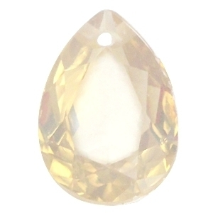 Resin Drop Pendant 18 x 25 mm Light Topaz Opal (per 1)