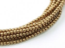 Glasparel Antique Gold 3 mm (per 44 cm streng)
