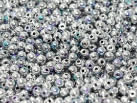 Glaskraal 3 mm Crystal Glittery Silver (per 50)