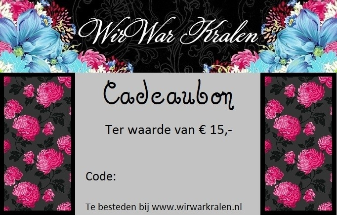 Cadeaubon €15,- (PDF of Geprint)