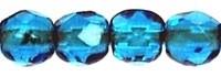 Facet 3 mm Dark Capri Blue (per 75)