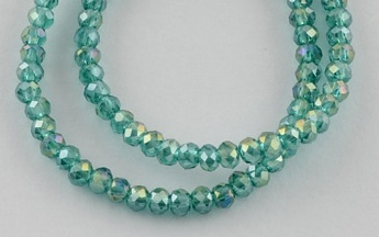 Facet Rondel 2 x 2,5 mm Emerald AB F1298 (per 198 kralen)