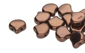 Ginko Bead Jet Bronze (per 10 gram)