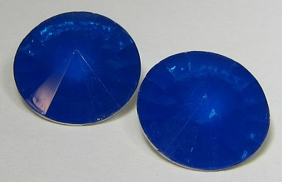 Resin Rivoli 18 mm Capri Blue Opal (per 2)