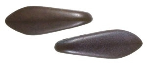 CzechMates Two Hole Daggers 5/16mm Chocolate Brown - Matte Bronze Vega (per 8)