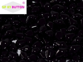 Spiky Button 4,5 x 6,5 mm Jet (per 25)