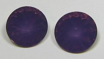 Resin Rivoli 14 mm Dark Cyclamen Opal (per 2)