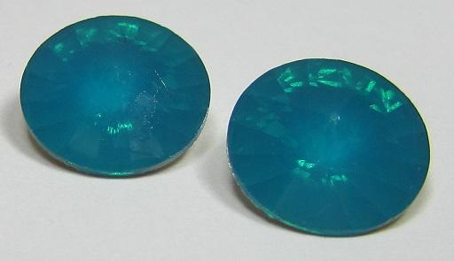 Resin Rivoli 14 mm Bright Blue Zircon Opal (per 2)
