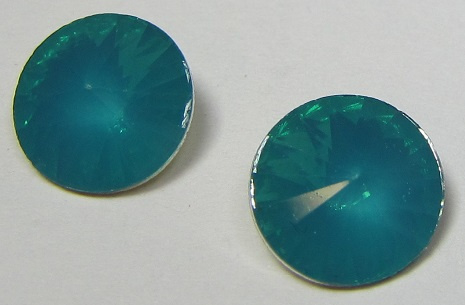 Resin Rivoli 10 mm Blue Zircon Opal (per 4)