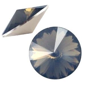 Resin Rivoli 12 mm Colorado Topaz Opal (per 3)