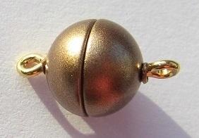 Magnetic Clasp Acrylic Matt Bronze 10 mm S490 (per 1)