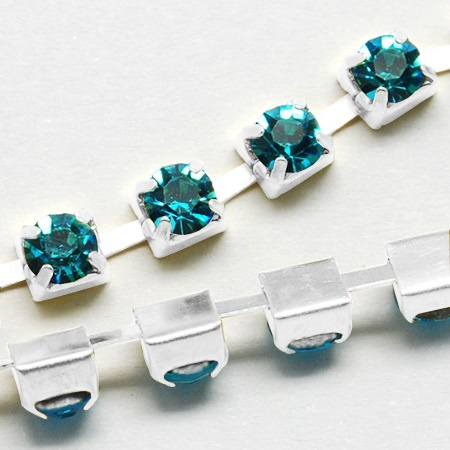 Cup Chain SS12 3 mm Aquamarine (meter)
