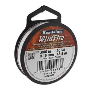 """Beadalon Wildfire Frost (0.006"""") 0,15 mm (per rol van 45 meter)"""