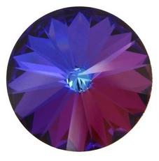 Swarovski Rivoli 12 mm Crystal Meridian Blue (per stuk)