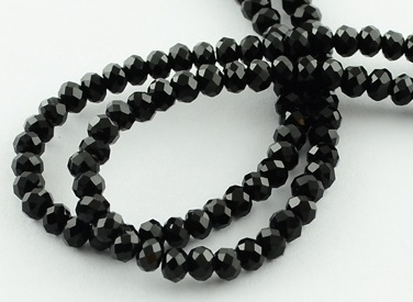Facet Rondel 2 x 2,5 mm Black F788 (per 198 kralen)