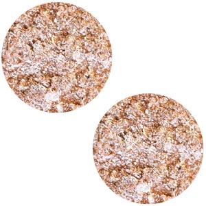 Polaris Cabochon Coin Flat 20 mm Goldstein Rose Peach (per 1)